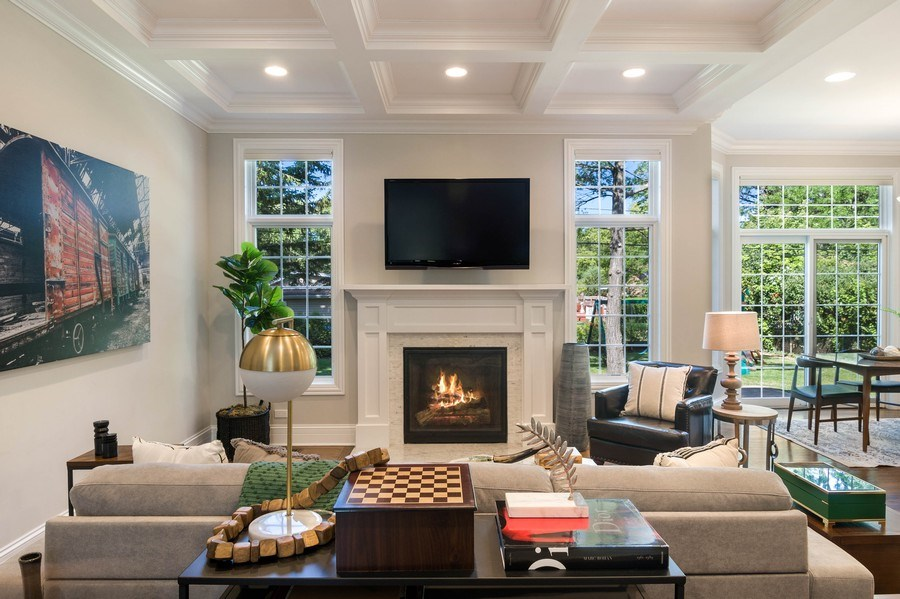Real Estate Photography - 330 Nora Ave, Glenview, IL, 60025 - Family Room