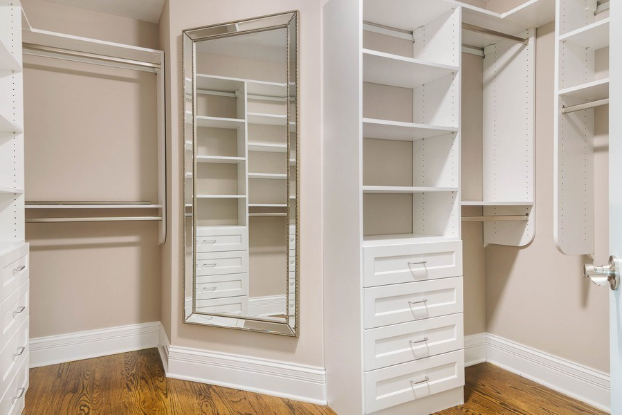 Real Estate Photography - 330 Nora Ave, Glenview, IL, 60025 - Master Bedroom Closet