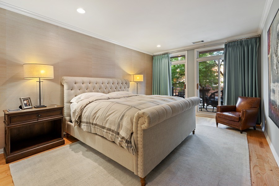 Real Estate Photography - 1414 N Wells, #207, Chicago, IL, 60610 - Master Bedroom