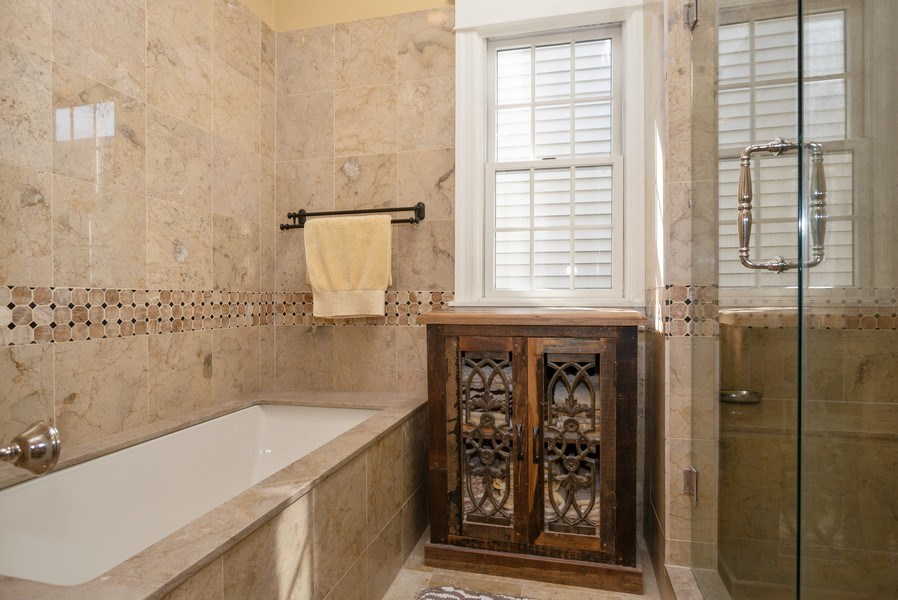 Real Estate Photography - 4108 N Oakley, Chicago Ill, IL, 60618 - Master Bathroom