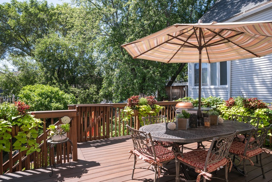 Real Estate Photography - 4108 N Oakley, Chicago Ill, IL, 60618 - Deck
