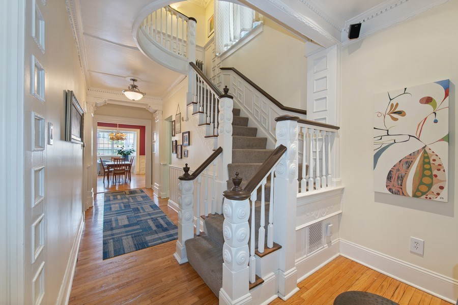 Real Estate Photography - 3512 W Beach Ave, Chicago, IL, 60651 - Hallway/Staircase
