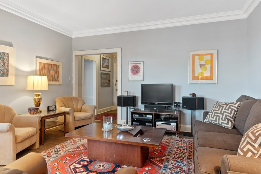 Real Estate Photography - 3520 N Lake Shore Drive, unit 3K, Chicago, IL, 60657 - Living Room