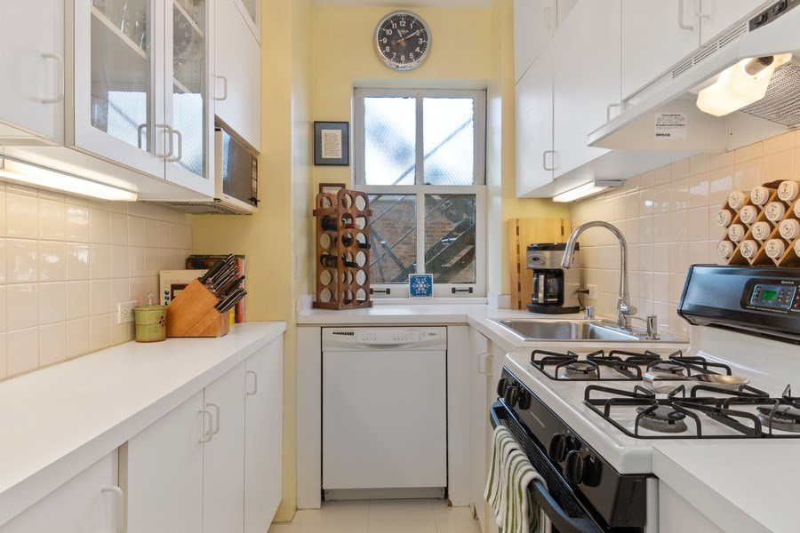 Real Estate Photography - 3520 N Lake Shore Drive, unit 3K, Chicago, IL, 60657 - Kitchen