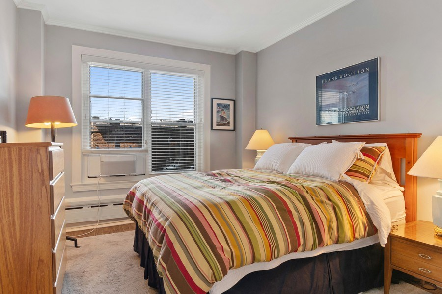 Real Estate Photography - 3520 N Lake Shore Drive, unit 3K, Chicago, IL, 60657 - Bedroom
