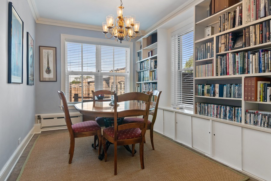 Real Estate Photography - 3520 N Lake Shore Drive, unit 3K, Chicago, IL, 60657 - Dining Room
