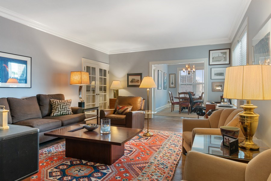 Real Estate Photography - 3520 N Lake Shore Drive, unit 3K, Chicago, IL, 60657 - Living Room/Dining Room