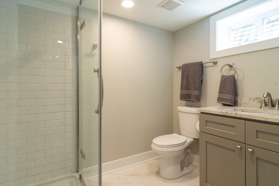 Real Estate Photography - 605 N Wille St, Mount Prospect, IL, 60056 - 2nd Bathroom