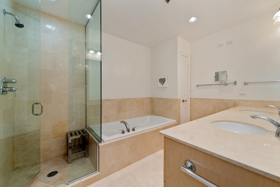 Real Estate Photography - 55 E. Erie St., #1604, Chicago, IL, 60611 - Master Bathroom