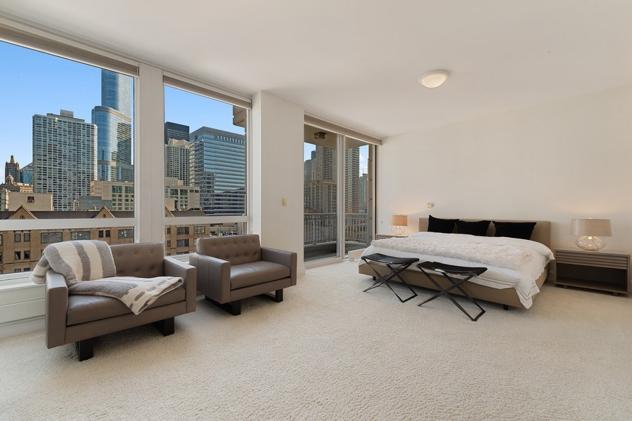 Real Estate Photography - 55 E. Erie St., #1604, Chicago, IL, 60611 - Master Bedroom