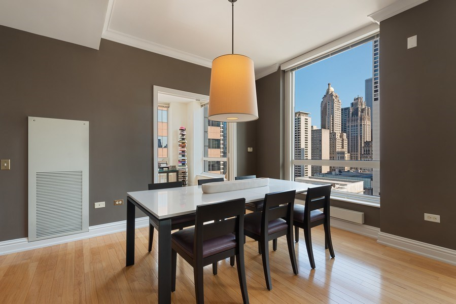Real Estate Photography - 55 E. Erie St., #1604, Chicago, IL, 60611 - Dining Room