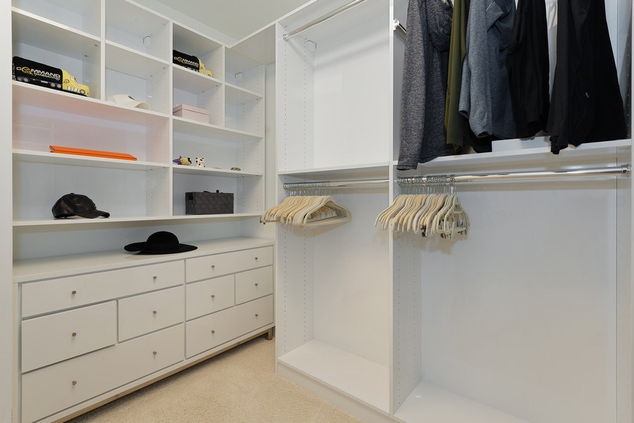 Real Estate Photography - 55 E. Erie St., #1604, Chicago, IL, 60611 - Master Bedroom Closet