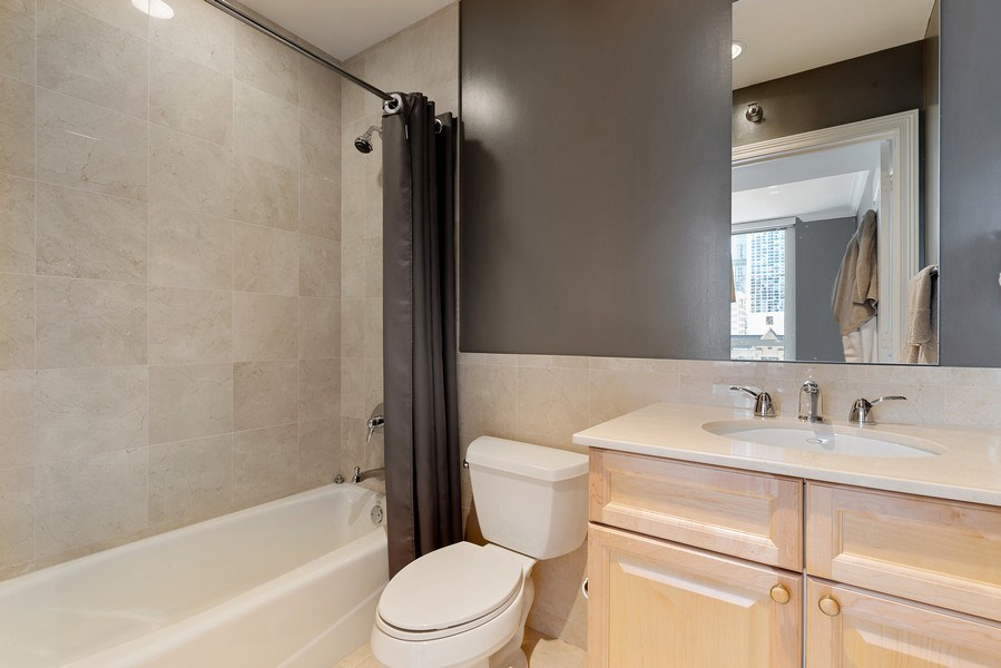 Real Estate Photography - 55 E. Erie St., #1604, Chicago, IL, 60611 - 2nd Bathroom