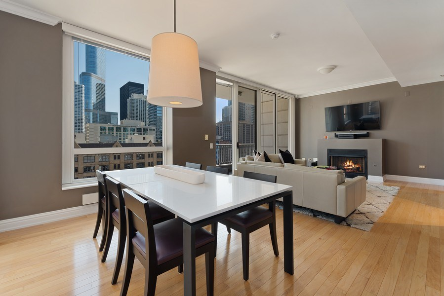 Real Estate Photography - 55 E. Erie St., #1604, Chicago, IL, 60611 - Living Room / Dining Room