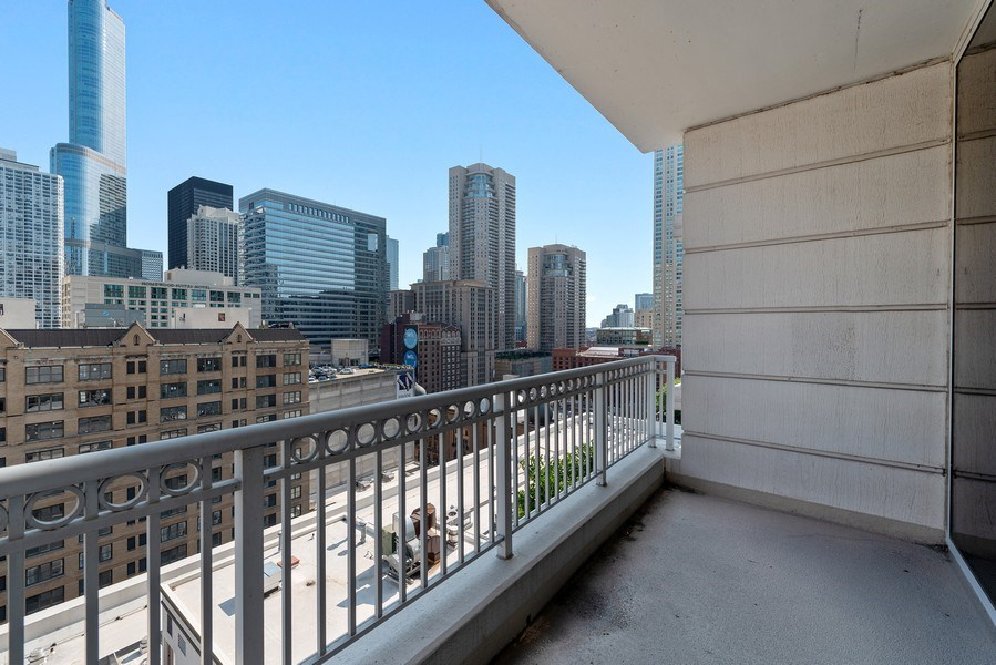 Real Estate Photography - 55 E. Erie St., #1604, Chicago, IL, 60611 - Balcony