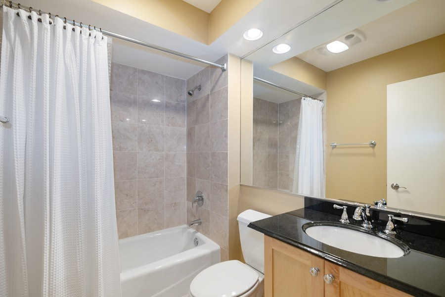 Real Estate Photography - 1740 N. Clark #1730, Chicago, IL, 60614 - Second Bathroom