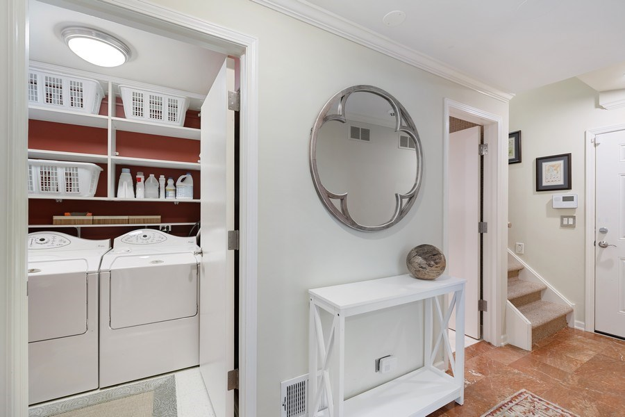Real Estate Photography - 1740 N. Clark #1730, Chicago, IL, 60614 - Foyer / Laundry Room