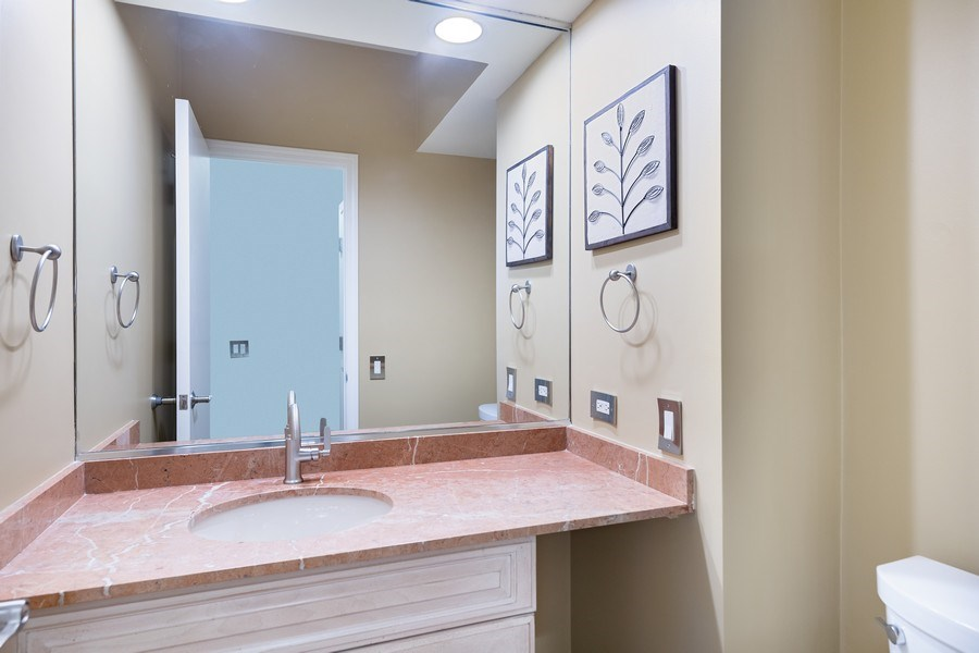 Real Estate Photography - 1740 N. Clark #1730, Chicago, IL, 60614 - Powder Room