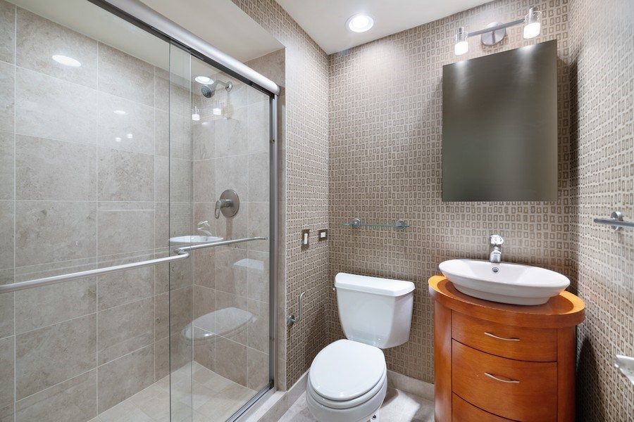 Real Estate Photography - 1740 N. Clark #1730, Chicago, IL, 60614 - Third Bathroom