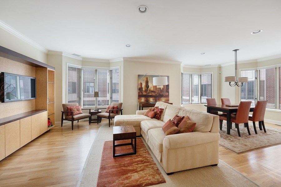 Real Estate Photography - 1740 N. Clark #1730, Chicago, IL, 60614 - Living Room / Dining Room