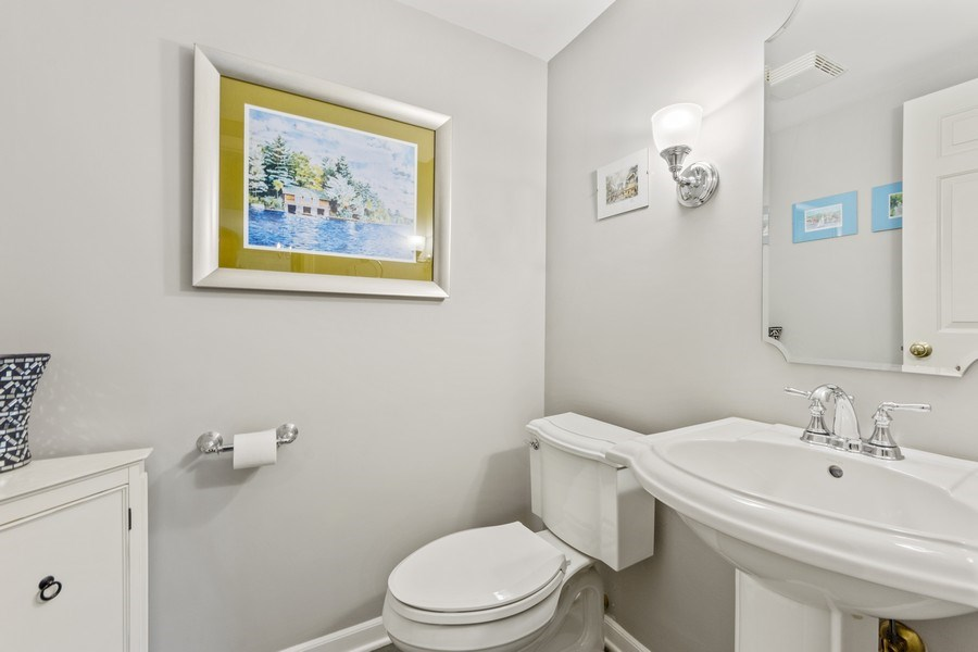 Real Estate Photography - 912 N Drury, Arlington Heights, IL, 60004 - Powder Room