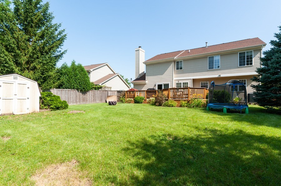 Real Estate Photography - 11 Cambridge Drive, Grayslake, IL, 60030 - Rear View