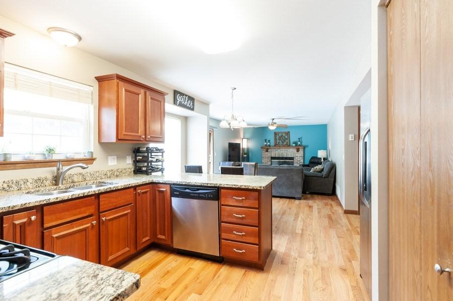 Real Estate Photography - 11 Cambridge Drive, Grayslake, IL, 60030 - Family Room / Kitchen