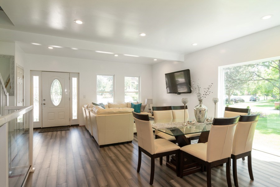 Real Estate Photography - 74 Woodside Road, Riverside, IL, 60546 - Living Room / Dining Room