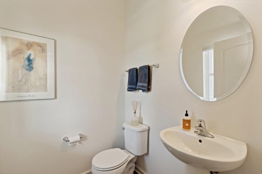 Real Estate Photography - 114 Flint Creek, Hawthorn Woods, IL, 60047 - Half Bath