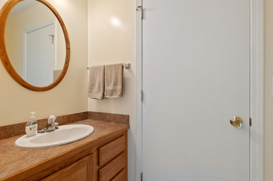 Real Estate Photography - 2820 Hickory Drive, Mccullum Lake, IL, 60050 - Powder Room
