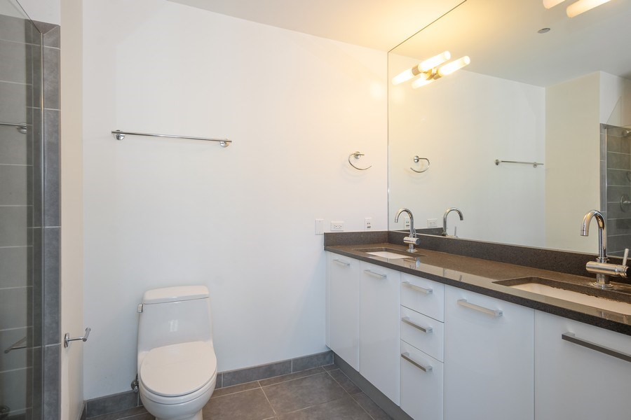 Real Estate Photography - 110 W. Superior St, Unit 1604, Chicago, IL, 60654 - Master Bathroom