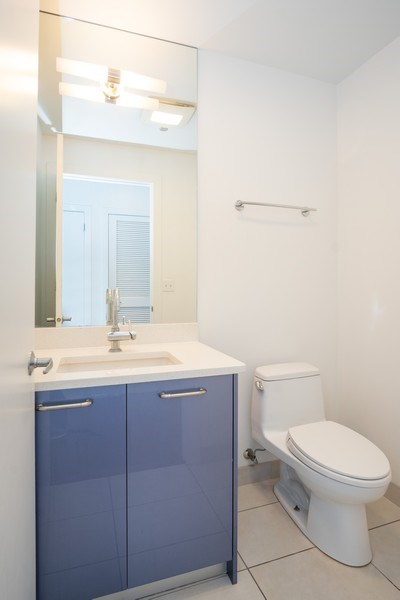 Real Estate Photography - 110 W. Superior St, Unit 1604, Chicago, IL, 60654 - Powder Room