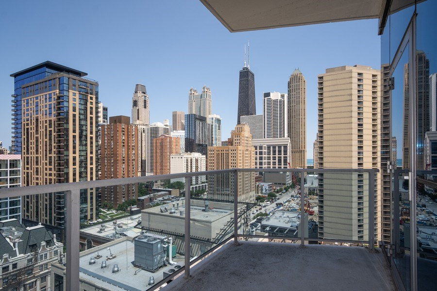 Real Estate Photography - 110 W. Superior St, Unit 1604, Chicago, IL, 60654 - Balcony