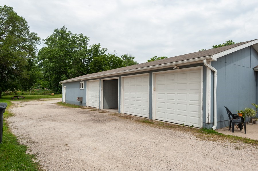 Real Estate Photography - 8340 Antioch Rd, Salem, WI, 53168 - Garage