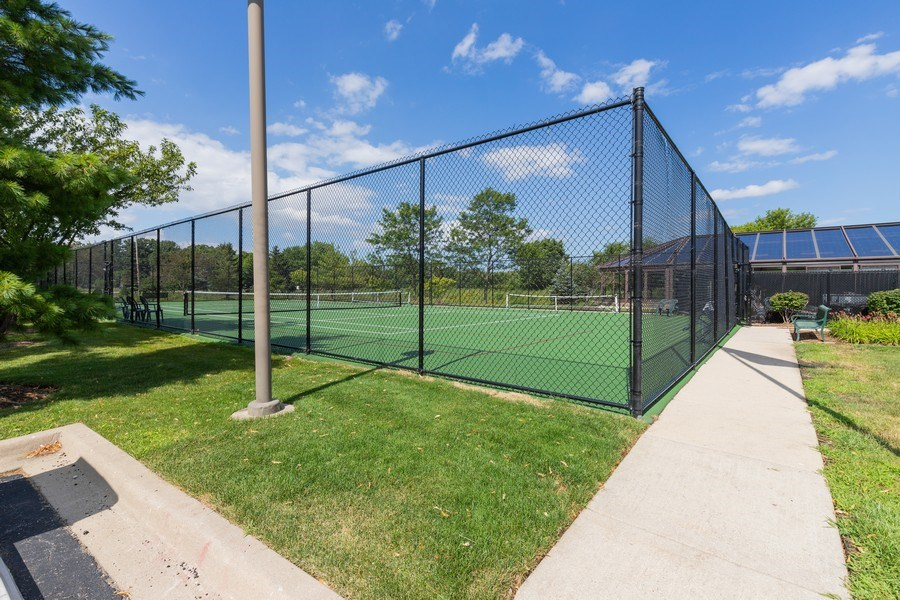 Real Estate Photography - 399 longfield lane, Grayslake, IL, 60030 - Tennis Court