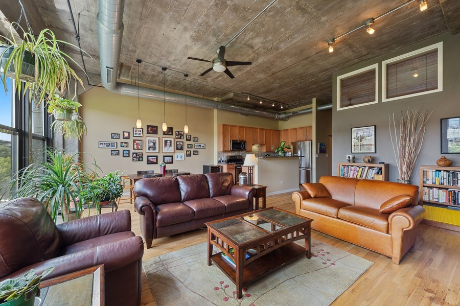 Real Estate Photography - 1070 W. 15th Street, Unit 345, Chicago, IL, 60608 - Living Room