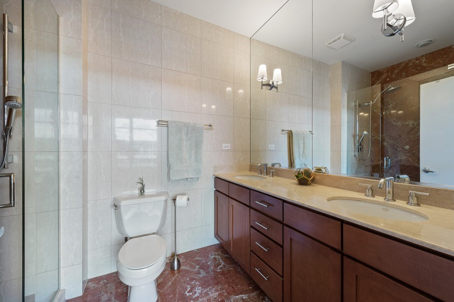 Real Estate Photography - 1070 W. 15th Street, Unit 345, Chicago, IL, 60608 - Master Bathroom