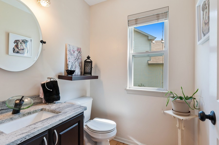 Real Estate Photography - 410 Jackson, Grayslake, IL, 60030 - Powder Room