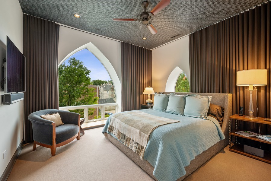Real Estate Photography - 3101 N. Seminary C, Chicago, IL, 60657 - Master Bedroom