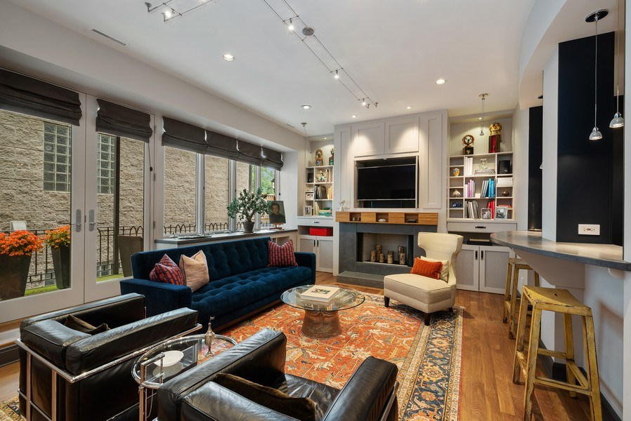Real Estate Photography - 3101 N. Seminary C, Chicago, IL, 60657 - Family Room