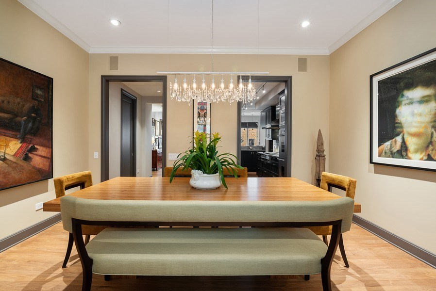 Real Estate Photography - 3101 N. Seminary C, Chicago, IL, 60657 - Dining Room