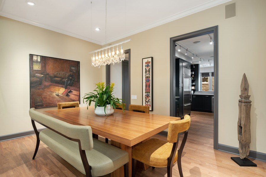 Real Estate Photography - 3101 N. Seminary C, Chicago, IL, 60657 - Kitchen / Dining Room