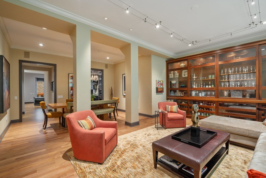 Real Estate Photography - 3101 N. Seminary C, Chicago, IL, 60657 - Living Room / Dining Room