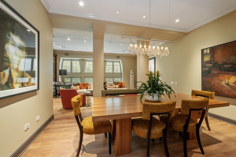 Real Estate Photography - 3101 N. Seminary C, Chicago, IL, 60657 - Living Room/Dining Room