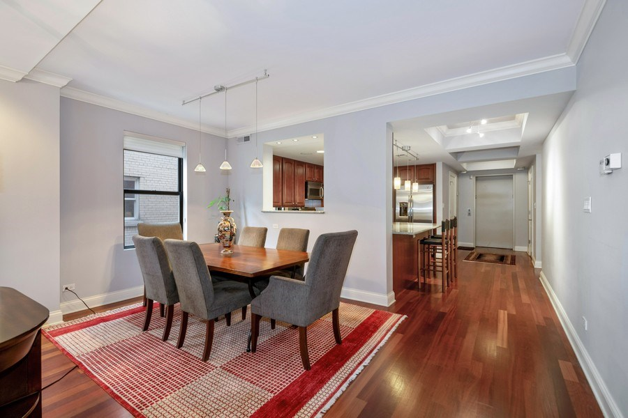 Real Estate Photography - 506 W Roscoe, #302, Chicago, IL, 60657 - Dining Room