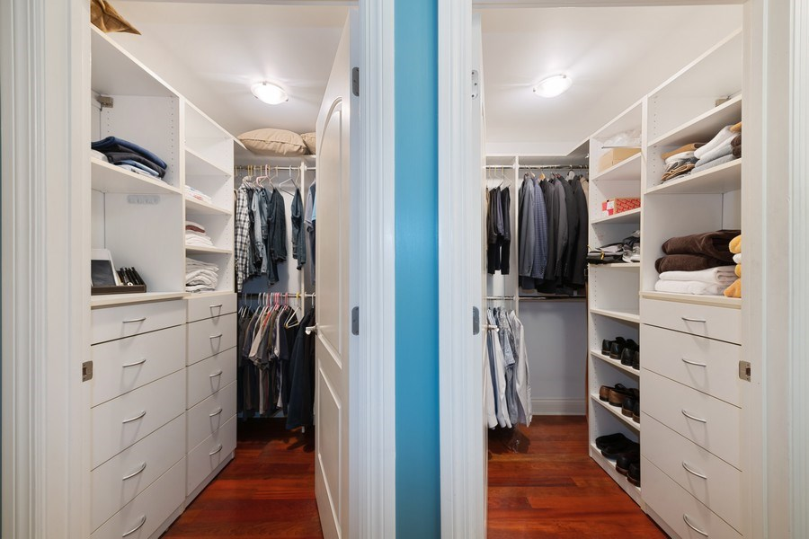 Real Estate Photography - 506 W Roscoe, #302, Chicago, IL, 60657 - Master Bedroom Closet