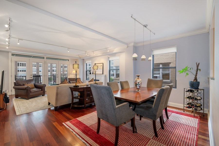 Real Estate Photography - 506 W Roscoe, #302, Chicago, IL, 60657 - Living Room / Dining Room