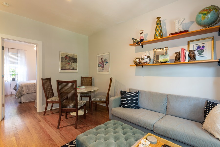 Real Estate Photography - 1903 W. Newport Ave, 3, Chicago, IL, 60657 - Living Room/Dining Room