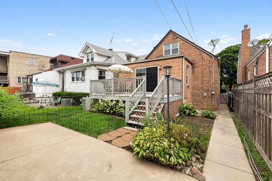Real Estate Photography - 5405 W Hutchinson St, Chicago, IL, 60641 - Rear View