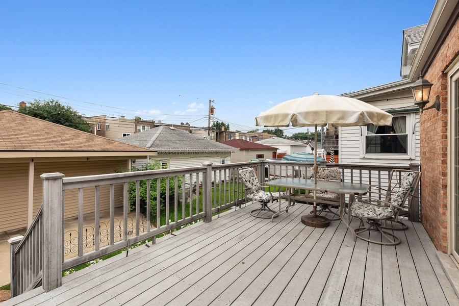 Real Estate Photography - 5405 W Hutchinson St, Chicago, IL, 60641 - Deck